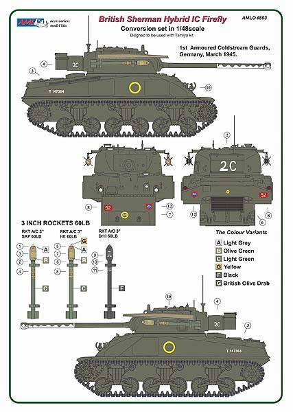 1/48 British Sherman Firefly Ic - Conversion set