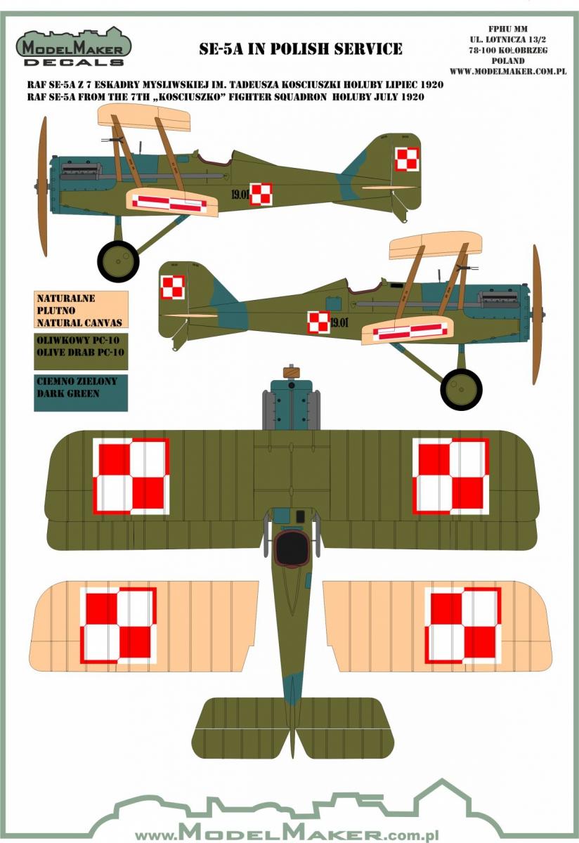 1/32 Royal Aircraft Factory Se 5A in Polish service
