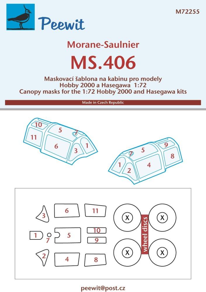 Techmod Decals 1//72 MORANE SAULNER MS-406 w//Masks