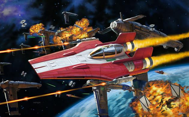 Build & Play Resistance A-Wing Fighter, Red Star Wars