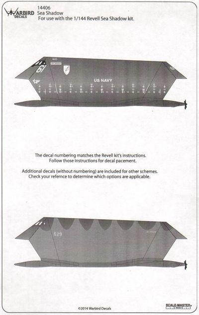 1/144 Lockheed Sea Shadow Stealth Boat