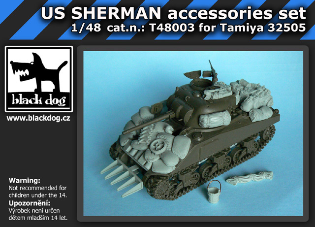 1/48 US SHERMAN accessories set