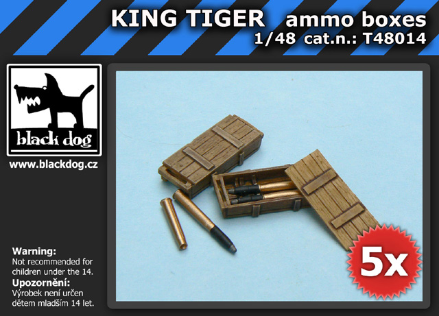 1/48 KING TIGER ammo boxes