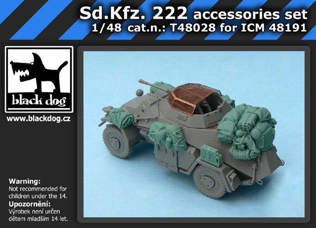 1/48 Sd.Kfz. 222 accessories set (for ICM 48191)