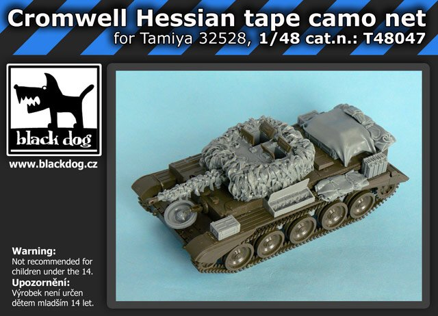1/48 Cromwell Hessian tape camo net