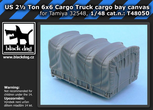 1/48 US 2 1/2 ton 6x6 Truck - cargo bay canvas