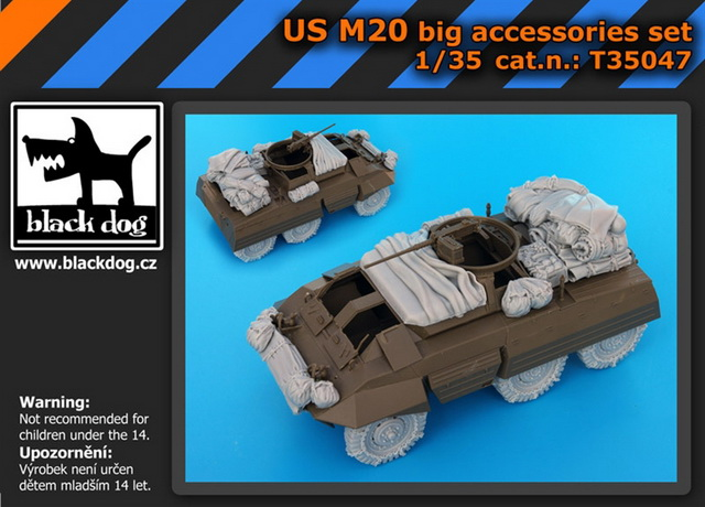 1/35 US M20 big accessories set (TAM)