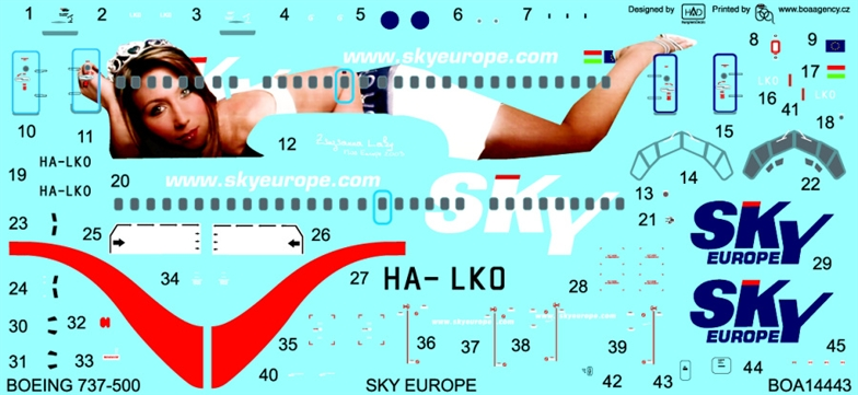 1/144 Decals Boeing 737-500 Sky Europe (SKYLINE)
