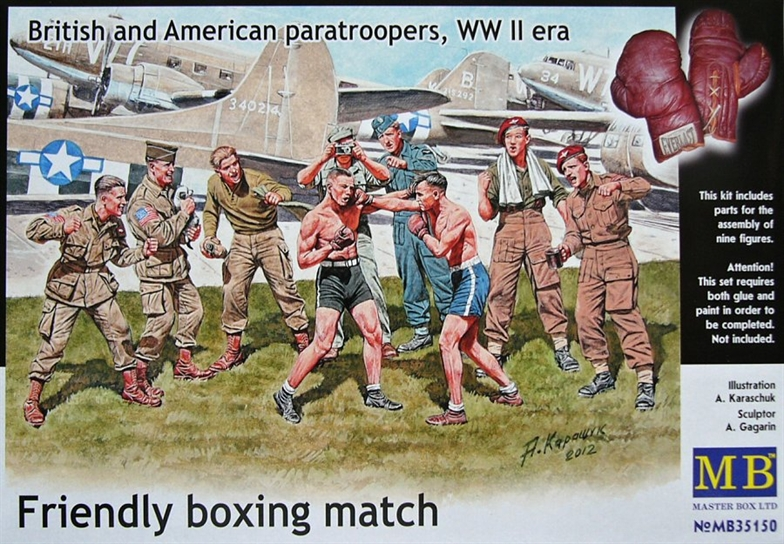 1/35 British and American Paratroopers 'Friendly Boxing Match'