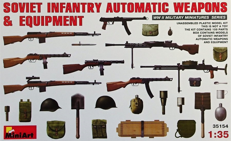 1/35 Soviet Infantry Automatic Weapons&Equipment