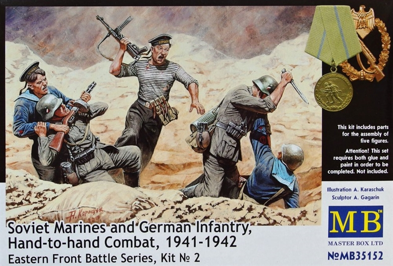 1/35 Soviet&Germ.Infantry, Combat 1941-42 (5 fig.)