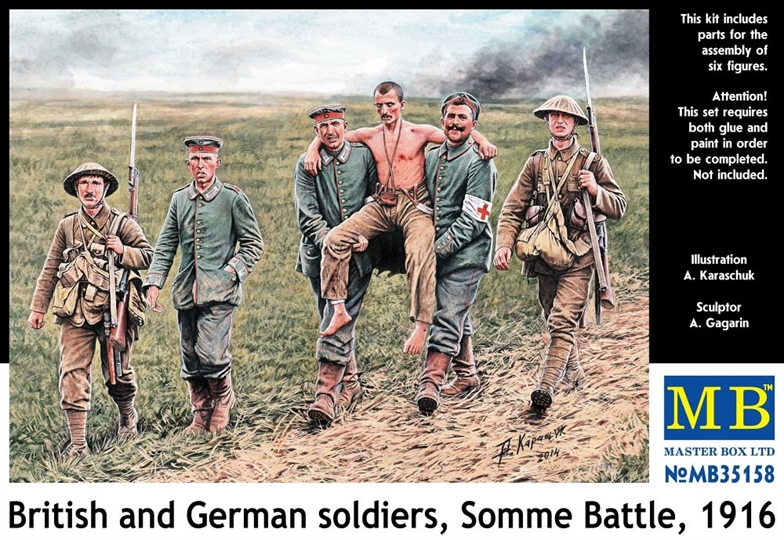 1/35 British&German soldiers, Somme Battle (6 fig)