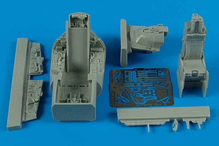 1/48 F-16C Barak block 40 cockpit set (KINETIC)