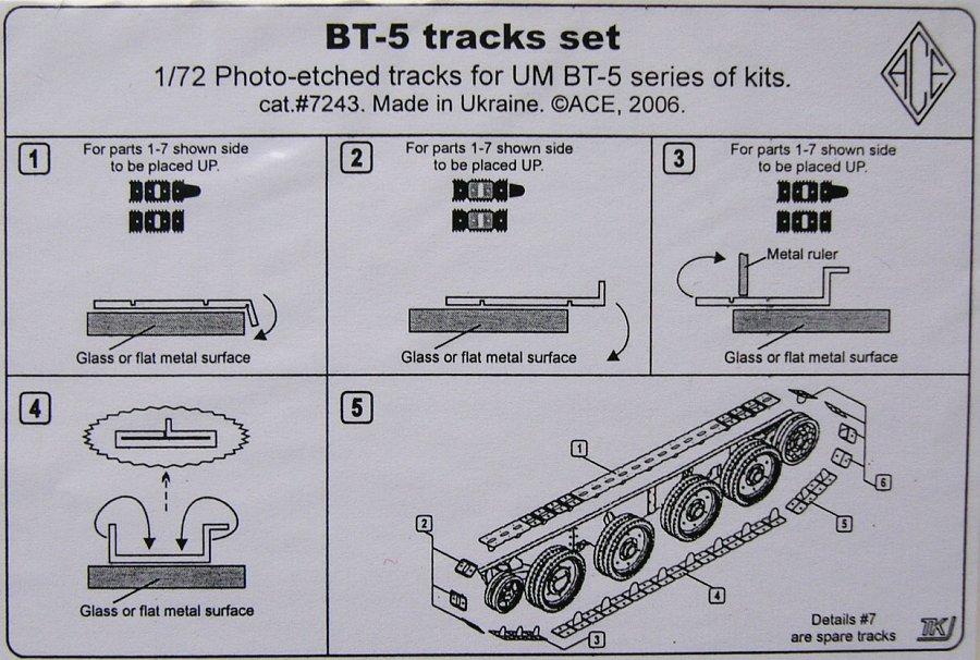 1/72 BT-5 Tracks set (UMM) - 1/72 AFV upgrade kits