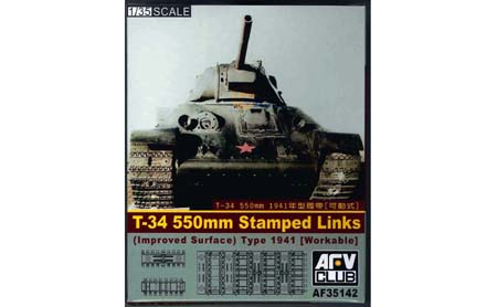 1/35 T34 550mm Track Set Stamped Links Type 1941 (Workable)