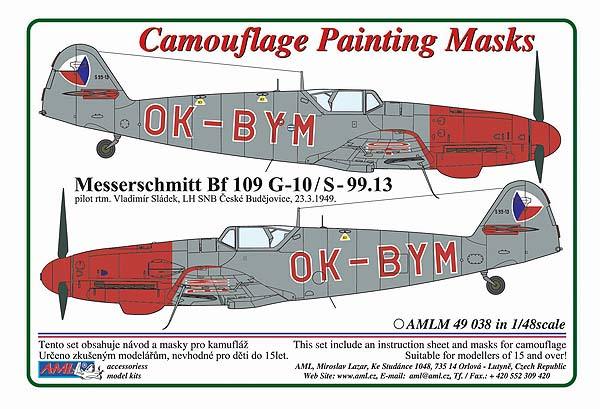 1/48 Messerschmitt Bf 109G-10/S.99 OK-BYM-Czech Police version