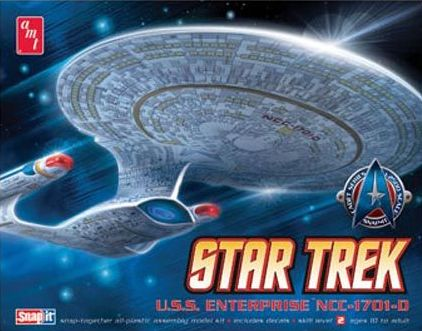 1/2500 Star Trek USSEnterprise NCC-1701-D Snap-together kit