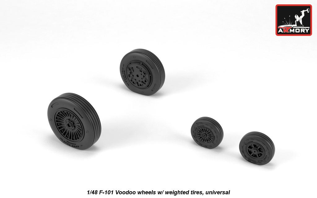 1/48 McDonnell F-101B Voodoo weighted wheels