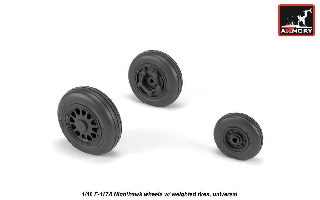 1/48 Lockheed F-117A wheels