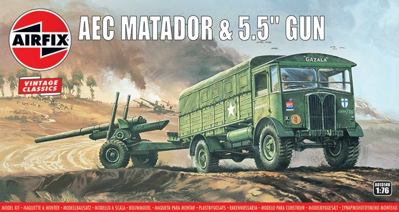 1/76 AEC Matador lorry and 5.5 Gun Vintage Classic series