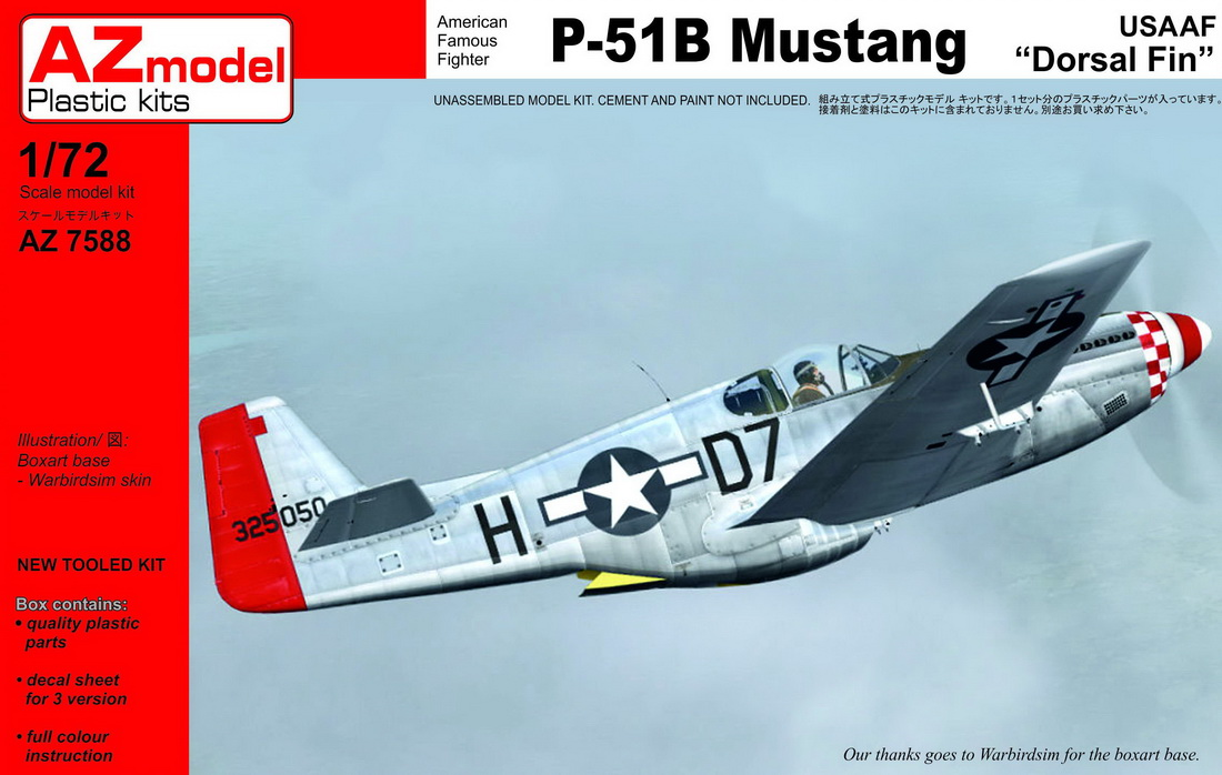 1/72 North-American P-51B Mustang Dorsal Fin USAAF