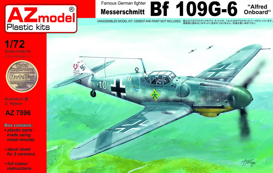1/72 Messerschmitt Bf-109G-6 Alfred on-board