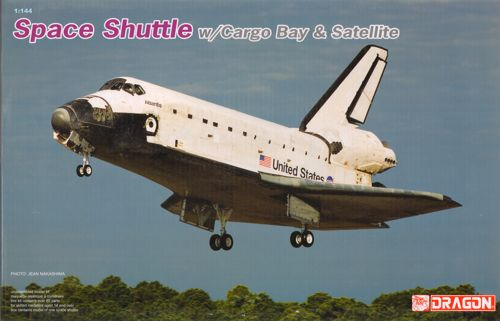 1/144 Space Shuttle with Cargo Bay and satellite