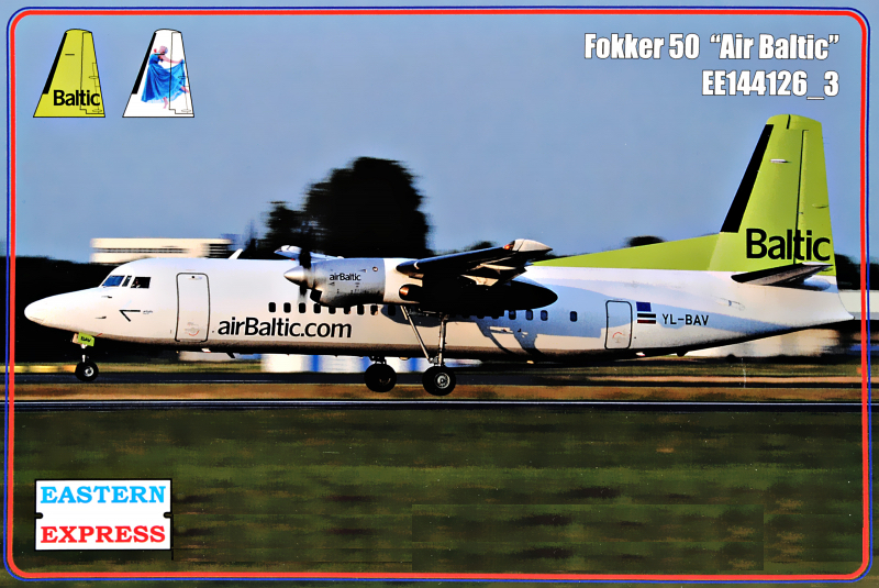 1/144 Fokker 50 Air Baltic