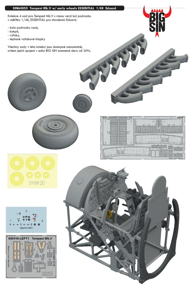 BIGSIN 1/48 Tempest Mk.V with early wheels ESSENTIAL