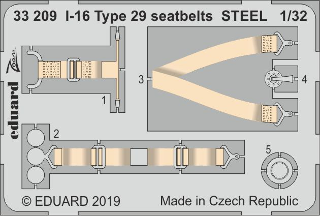 1/32 I-16 Type 29 seatbelts STEEL