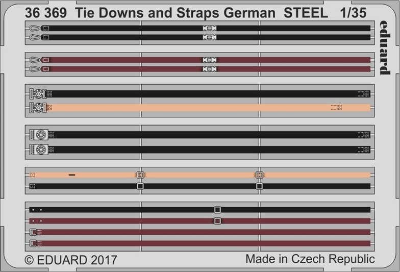 1/35 Tie Downs and Straps German STEEL