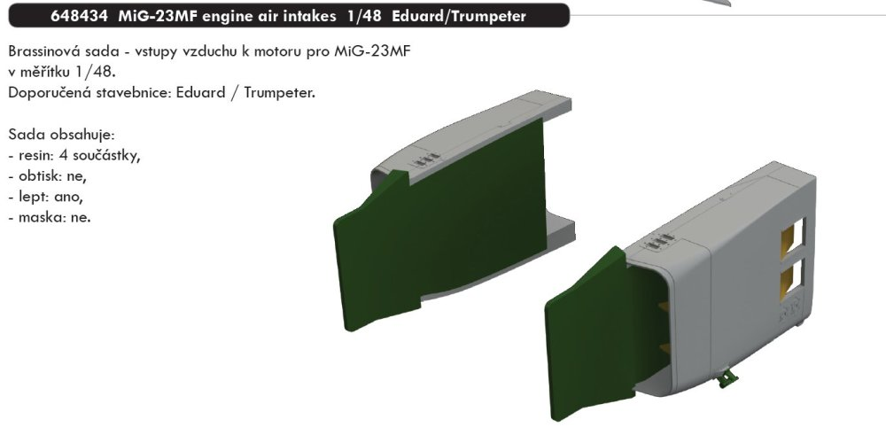 BRASSIN 1/48 MiG-23MF engine air intakes