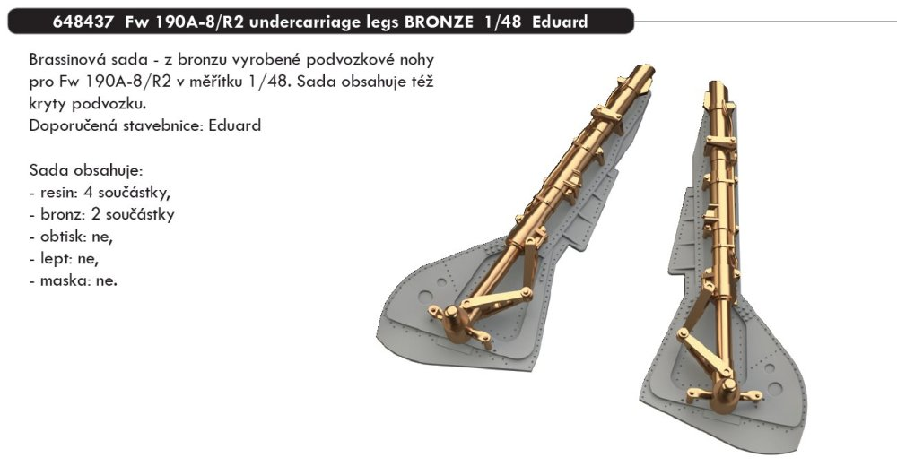 BRASSIN 1/48 Fw 190A-8/R2 undercarriage legs BRONZE