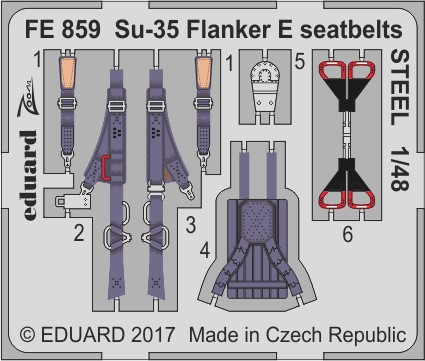 1/48 Su-35 Flanker E seatbelts STEEL