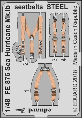 1/48 Sea Hurricane Mk.Ib seatbelts STEEL