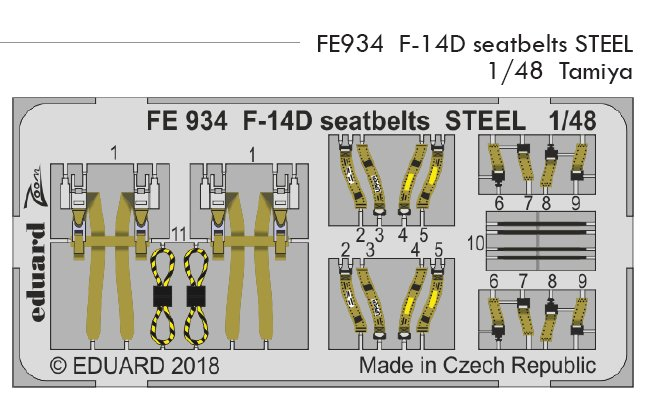 1/48 F-14D seatbelts STEEL