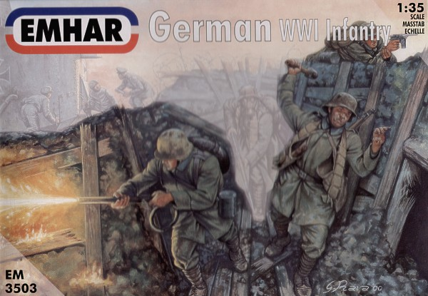 1/35 WWI German Infantry and tank crew