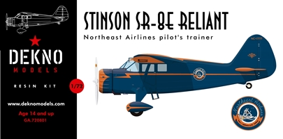 1/72 Stinson SR-8E Reliant Northeast Airlines pilot trainer