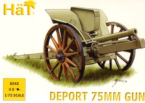 1/72 WWI Italian 75mm Deport Gun