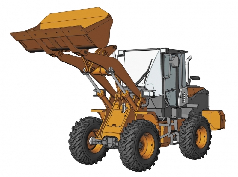 1/35 Hitachi Wheel Loader Zw100-6