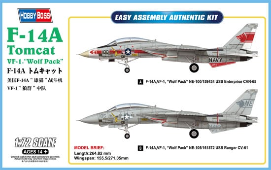 1/72 F-14A Tomcat VF-1 Wolf Pack