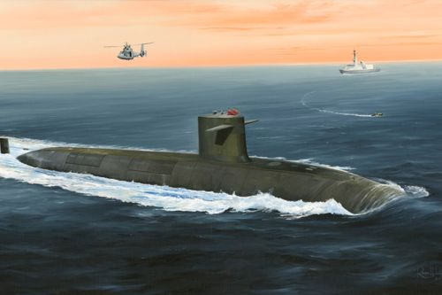 1/350 French Navy Le Triomphant SSBN