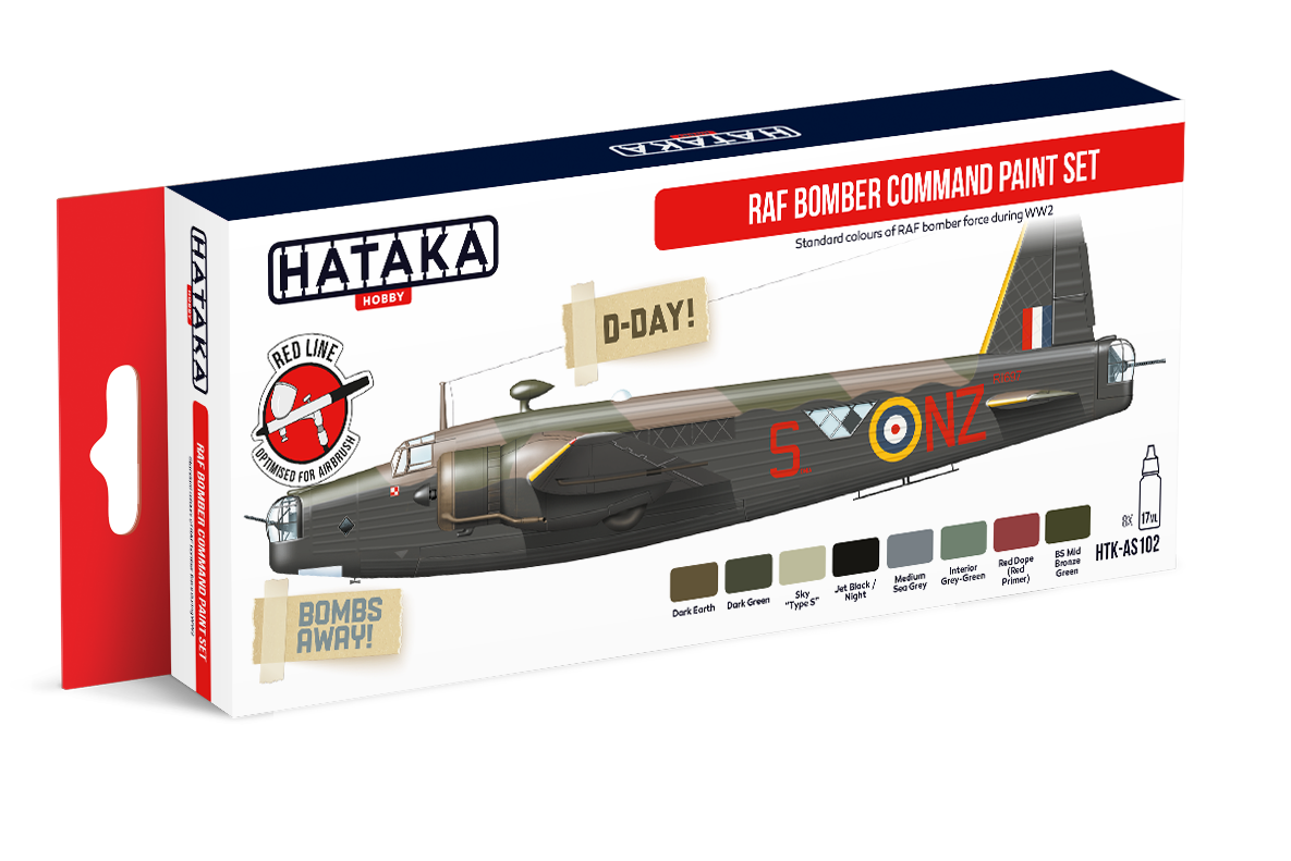 RAF Bomber Command Standard colours paint set