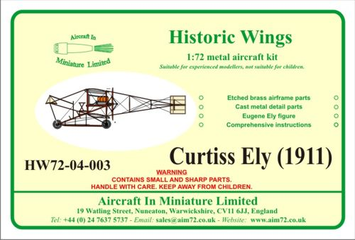 1/72 Curtiss-Ely (1911)