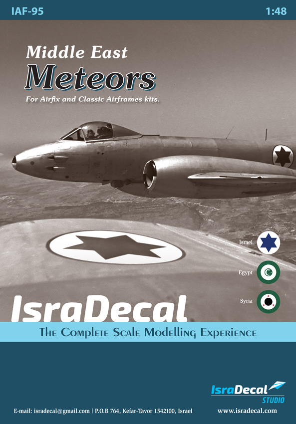 1/48 Middle East Gloster Meteors decals Israel, Egypt, Syria