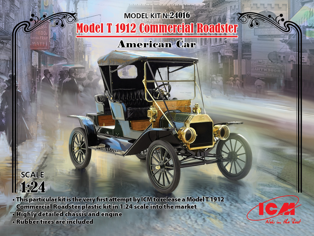 1/24 Model T 1912 Commercial Roadster American Car