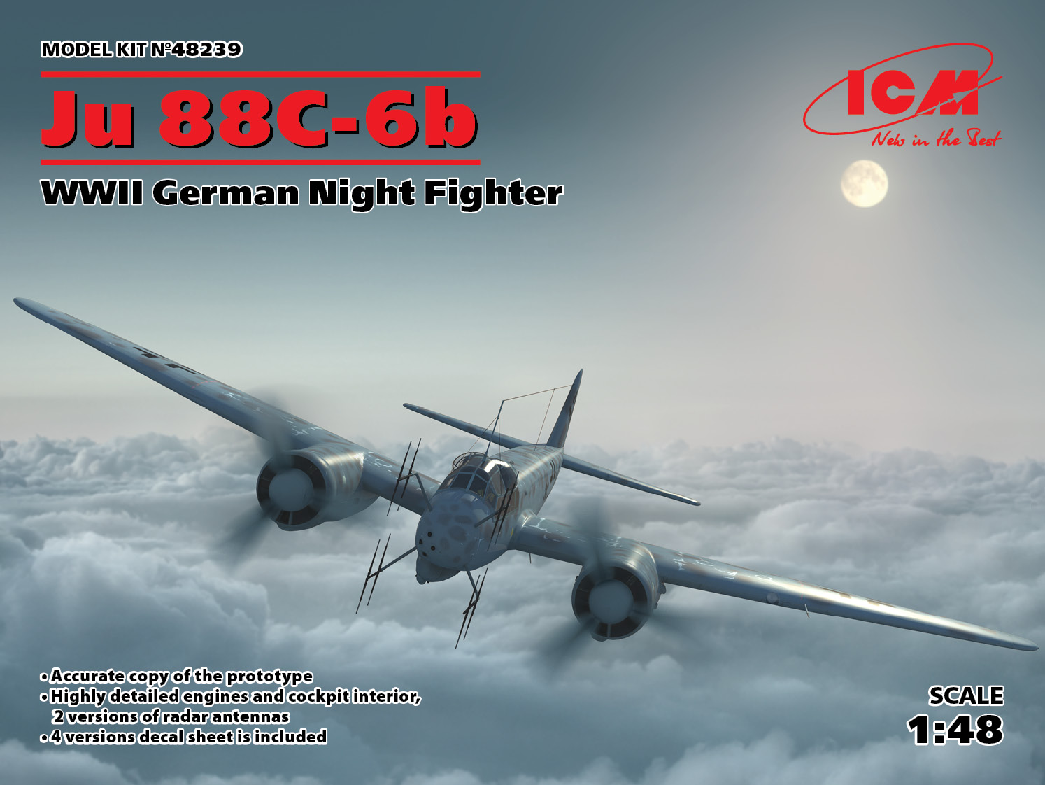 1/48 Junkers Ju-88 -6b WWII German Night Fighter