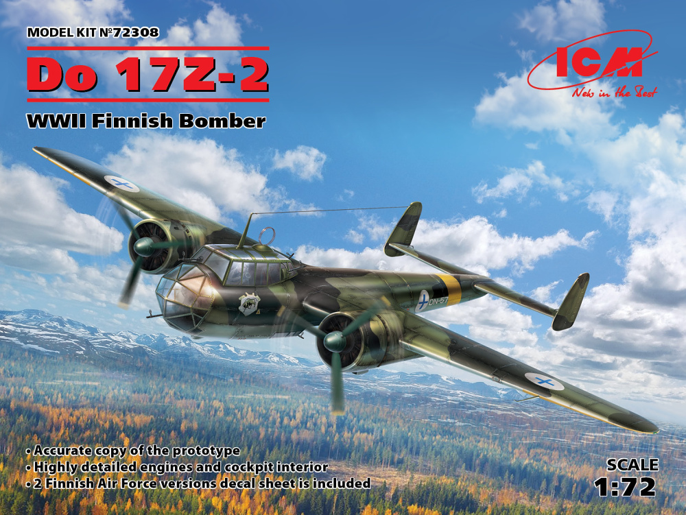 1/72 Dornier Do 17Z-2 Finnish WWII Bomber