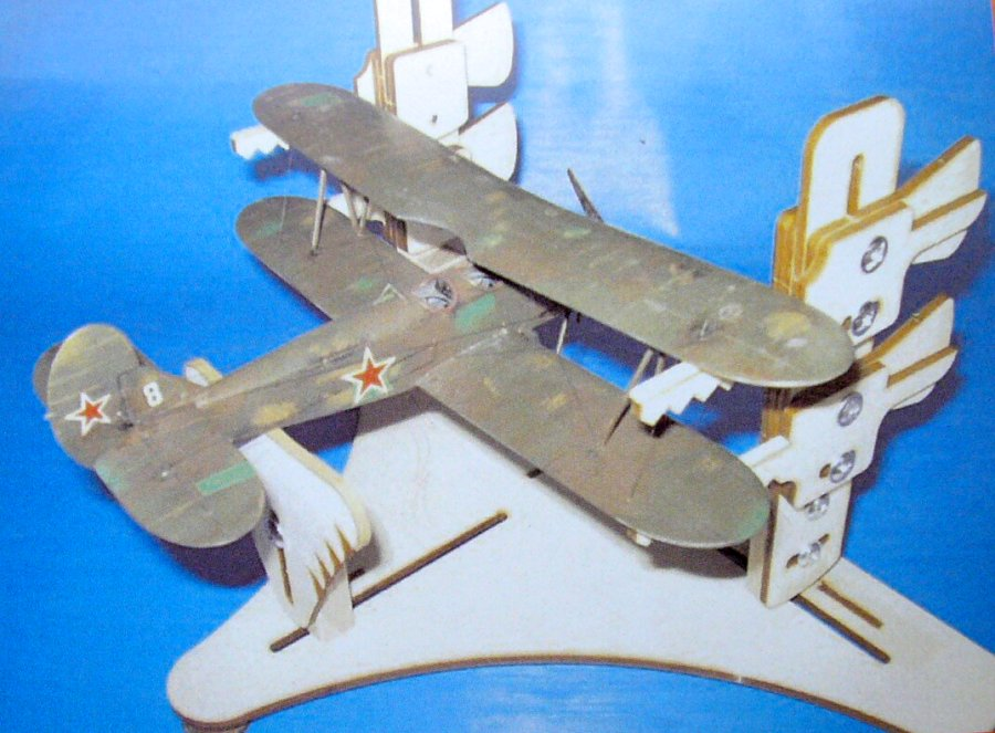 1/48 Wooden stand for bi-planes building/transport