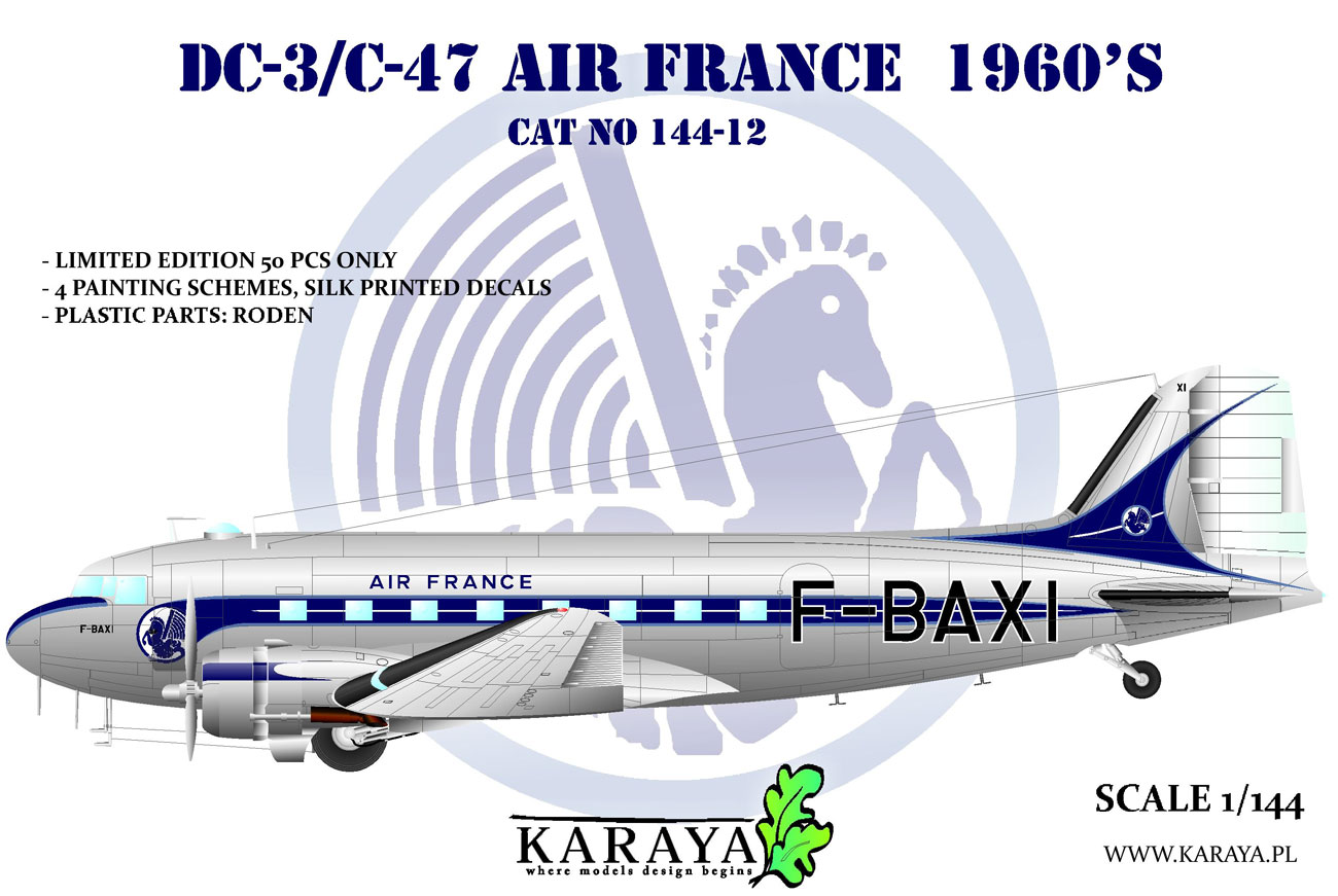 1/144 Douglas DC-3 Air France